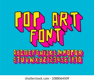 pop art font 3D