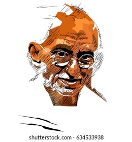 pop art of  Mahatma Gandhi, Gandhi was the leader of the Indian independence movement in British-ruled India.