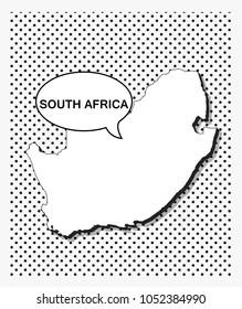 Pop art map of south Africa