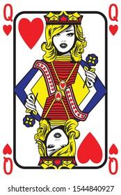 Pop Art Queen Card. Vector Illustration