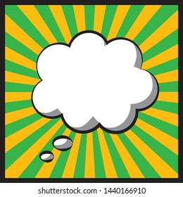 Pop art speech thinking bubbles cartoon vector editable image