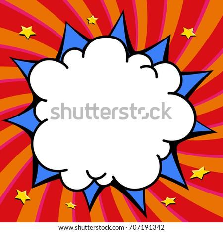 pop art styled speech bubble template stock vector royalty free