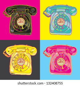 pop art telephone