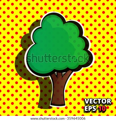 Pop Art Tree Stock Vector Royalty Free 359645006 Shutterstock