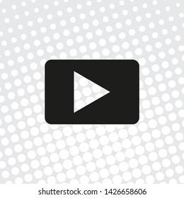 Pop art  Vector video icon