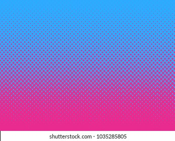 Pop Art vintage vector background. Halftone design