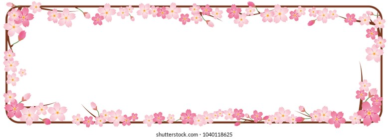 Pop background for spring image (wide) | Cherry illustration Cherry background | Cherry lease Cherry ornament