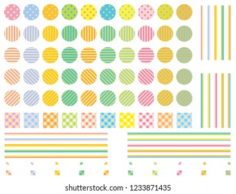 Pop color and image swatches pattern set