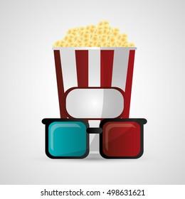 Pop corn cinema and movie design