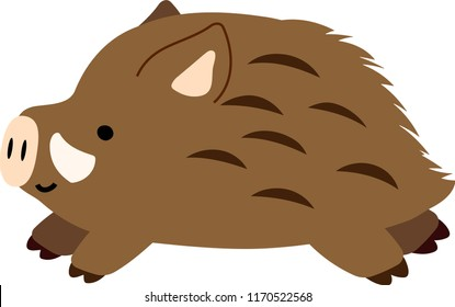 Pop Cute wild boar illustration