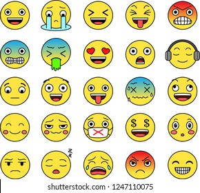 Pop Funny cute emoticon set