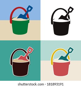 pop pail and shovel toys set