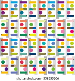 pop toy image,color tile - Geometric seamless pattern