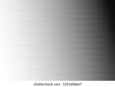 Pop-art Dots Background. Vintage Backdrop. Fade Gradient Texture. Abstract Distressed Overlay. Vector illustration