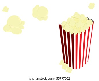 Popcorn in bag - vector