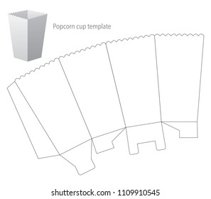 image relating to Popcorn Box Printable known as Popcorn Box Template Inventory Examples, Pictures Vectors