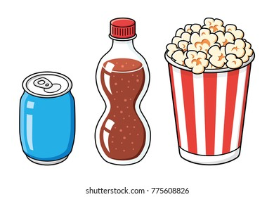 Popcorn Bucket Stock Vectors Images Vector Art Shutterstock