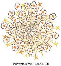 popcorn explosion vector illustration