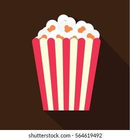 Popcorn flat icon.
