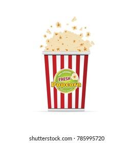 popcorn fresh food art illustration