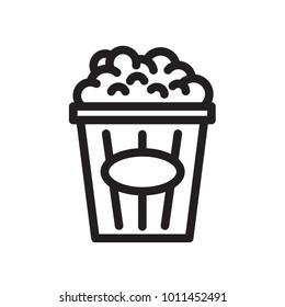 popcorn icon outline food