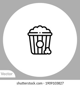 Popcorn icon sign vector,Symbol, logo illustration for web and mobile