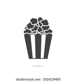 Popcorn icon vector isolated