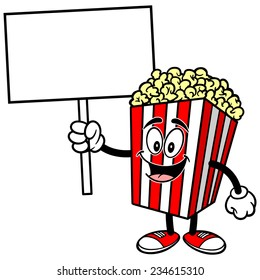 Popcorn with Sign