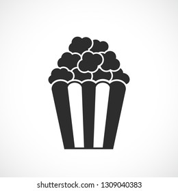 Popcorn snack vector icon illustration isolated on white background