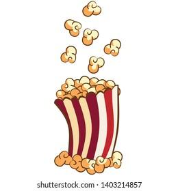 popcorn vector graphic cartoon clipart design