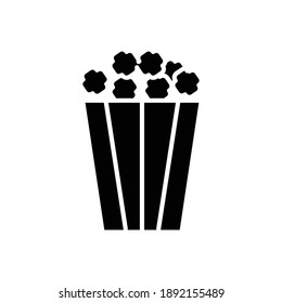 popcorn vector icon glyph style vector design element