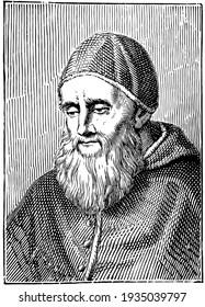 Pope Julius II, vintage illustration