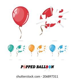 popped balloon - vector