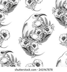 poppy flower pattern