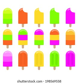 Pops / Ice Lollies Clip Art Set