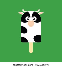 Popsicle in the shape of a Cow