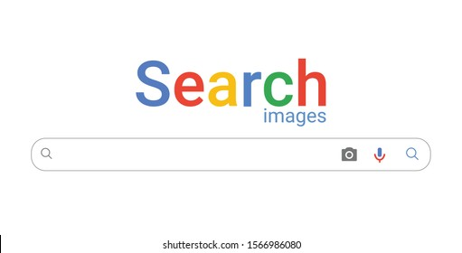 Popular browser window ,search box engine for images, simple vector illustration and icons