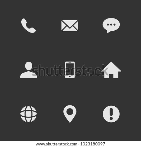 Popular Contact Web Icons Business Card Stock Vector Royalty Free