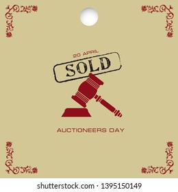 A popular day - Auctioneers Day. Banner to date Auctioneers Day