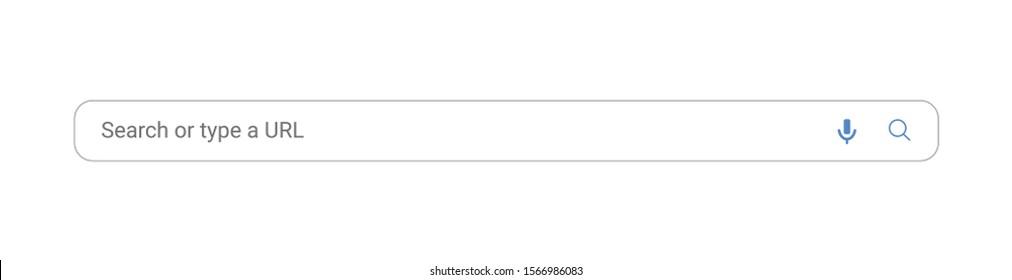 Popular search box engine, simple vector illustration