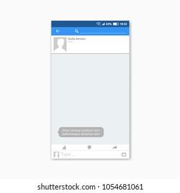 Popular Social Network Messenger Screen Frame. EPS10 Vector