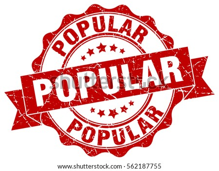 popular stamp sticker seal round grunge stock vector royalty free