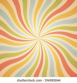 popular twist rotate ray background vector