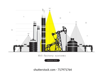 Popularity Oil refinery modern layouts industry. Polygonal style with Gas station technology, graphics future systems development. Infographics strategy program.