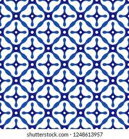 porcelain China pattern, Chinese ceramic background, blue and white pottery backdrop modern design, Chinaware seamless decor vector illustration