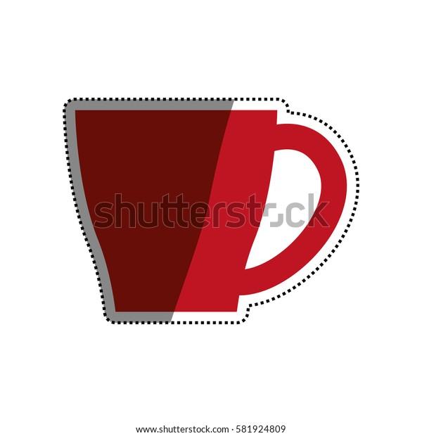 Porcelain mug cup icon vector illustration graphic design