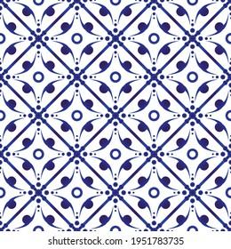 porcelain pattern, ceramic seamless decor, blue and white modern background for design, chinaware, pottery, earthenware, mosaic, texture, indigo, textile, batik, beautiful, China wallpaper, vector