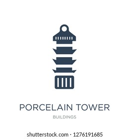 porcelain tower of nanjing icon vector on white background, porcelain tower of nanjing trendy filled icons from Buildings collection, porcelain tower of nanjing vector illustration