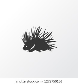 Porcupine icon symbol. Premium quality isolated hedgehog element in trendy style.