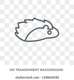 porcupine icon. Trendy flat vector porcupine icon on transparent background from animals collection. High quality filled porcupine symbol use for web and mobile